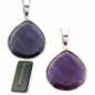 Mobile Preview: Kette mit facettiertem Amethysttropfen